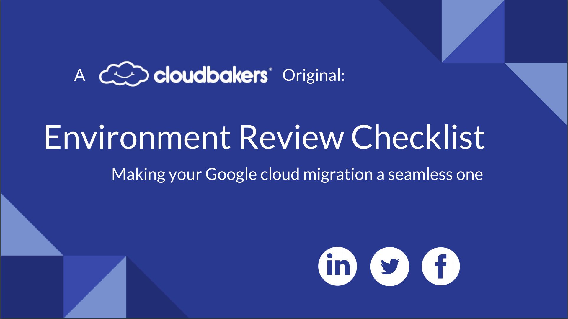 Environment Review eBook   Cloudbakers